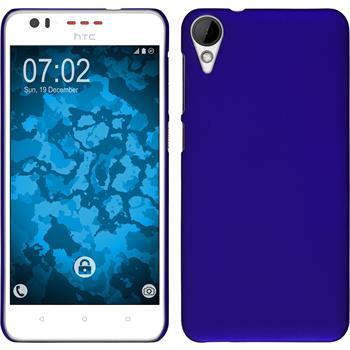 Hardcase für HTC Desire 825 gummiert blau