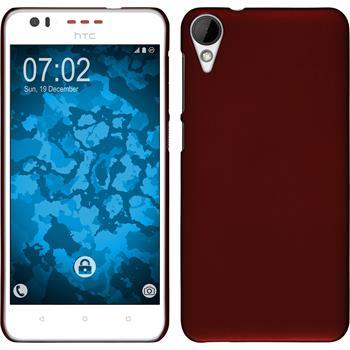 Hardcase für HTC Desire 825 gummiert rot