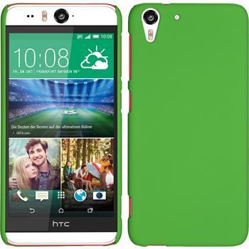 Hardcase für HTC Desire Eye gummiert grün