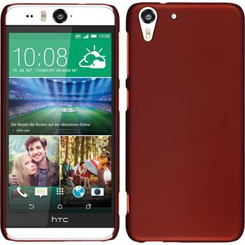 Hardcase für HTC Desire Eye gummiert rot
