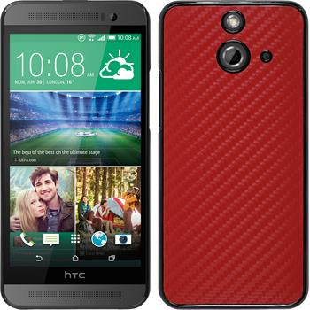 Hardcase für HTC One E8 Carbonoptik rot