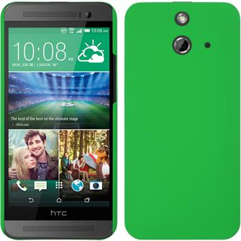 Hardcase for HTC One E8 rubberized green