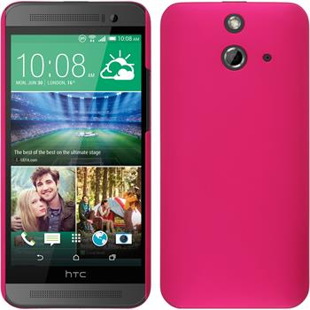 Hardcase for HTC One E8 rubberized hot pink