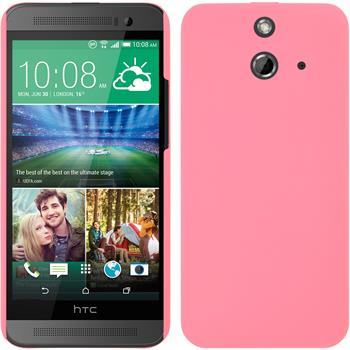 Hardcase for HTC One E8 rubberized pink