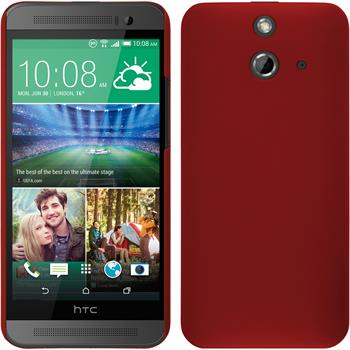 Hardcase for HTC One E8 rubberized red