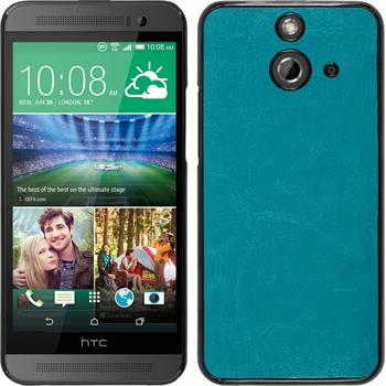 Hardcase for HTC One E8 leather optics turquoise