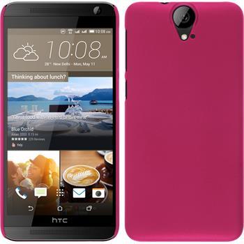 Hardcase für HTC One E9+ gummiert pink