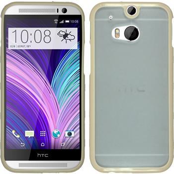 Hardcase für HTC One M8 Frame beige
