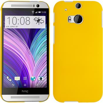 Hardcase for HTC One M8 rubberized yellow