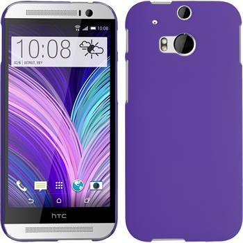 Hardcase for HTC One M8 rubberized purple