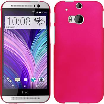 Hardcase for HTC One M8 rubberized hot pink