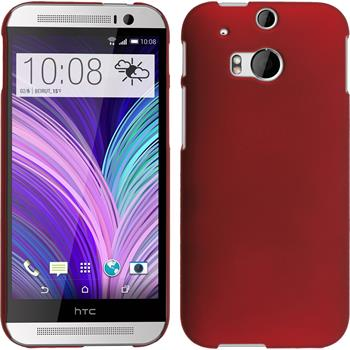 Hardcase for HTC One M8 rubberized red