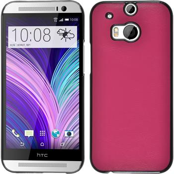 Hardcase for HTC One M8 leather optics hot pink