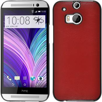 Hardcase for HTC One M8 leather optics red