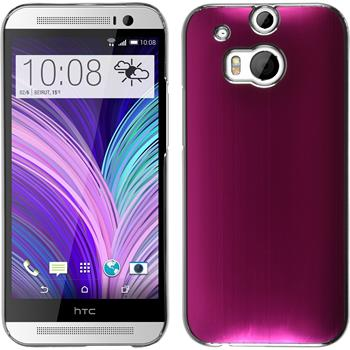 Hardcase für HTC One M8 Metallic pink