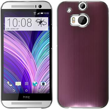 Hardcase für HTC One M8 Metallic rosa