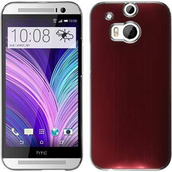 Hardcase for HTC One M8 metallic red
