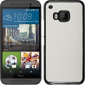 Hardcase für HTC One M9 Carbonoptik weiß