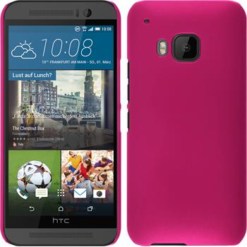 Hardcase for HTC One M9 rubberized hot pink