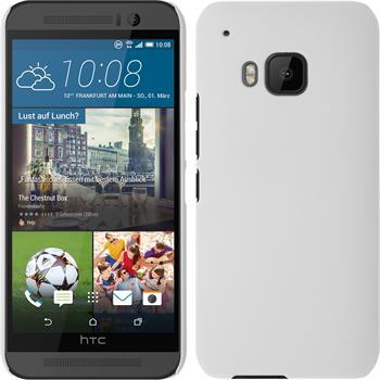 Hardcase für HTC One M9 gummiert weiß