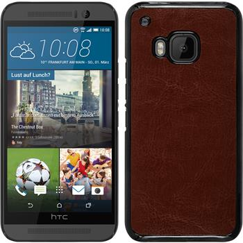 Hardcase for HTC One M9 leather optics brown