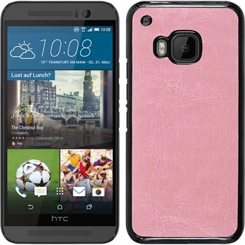 Hardcase for HTC One M9 leather optics pink