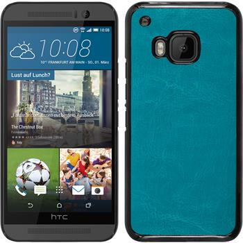 Hardcase for HTC One M9 leather optics turquoise