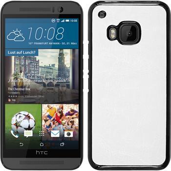 Hardcase für HTC One M9 Lederoptik weiß