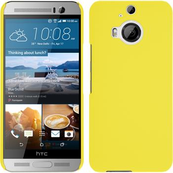 Hardcase for HTC One M9 Plus rubberized yellow