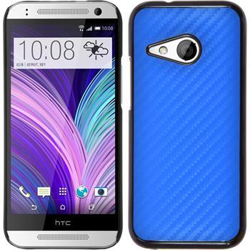 Hardcase for HTC One Mini 2 carbon optics blue