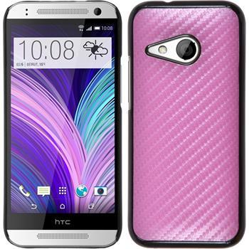 Hardcase for HTC One Mini 2 carbon optics hot pink