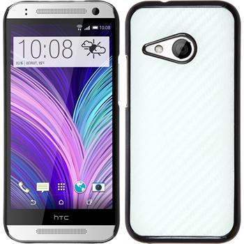 Hardcase for HTC One Mini 2 carbon optics white
