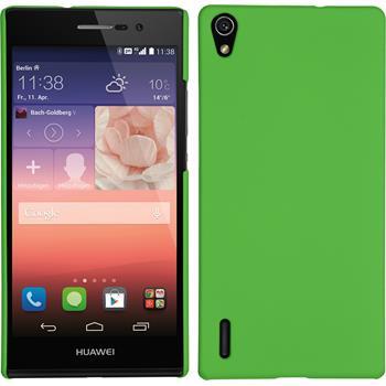 Hardcase für Huawei Ascend P7 gummiert grün