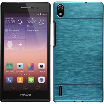 Hardcase für Huawei Ascend P7 Metallic blau