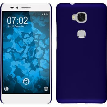 Hardcase für Huawei Honor 5X gummiert blau