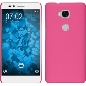 Hardcase für Huawei Honor 5X gummiert pink