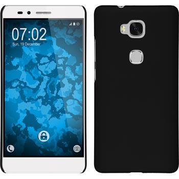 Hardcase für Huawei Honor 5X gummiert schwarz