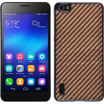 Hardcase Honor 6 Carbonoptik bronze