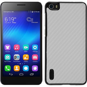 Hardcase Honor 6 Carbonoptik weiß