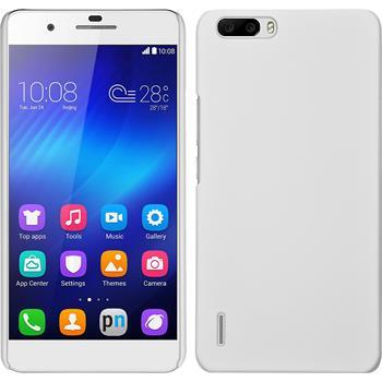 Hardcase für Huawei Honor 6 Plus gummiert weiß