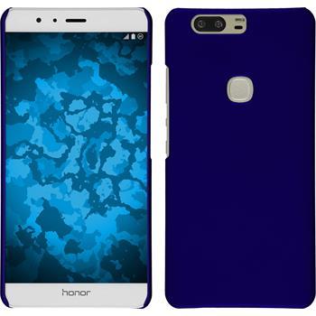 Hardcase für Huawei Honor V8 gummiert blau