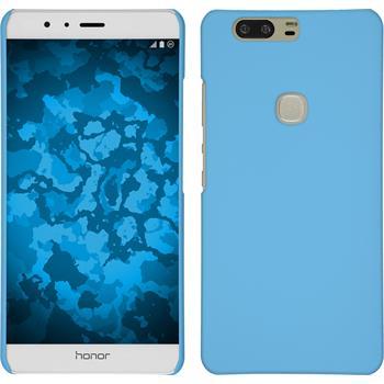 Hardcase Honor V8 gummiert hellblau + 2 Schutzfolien