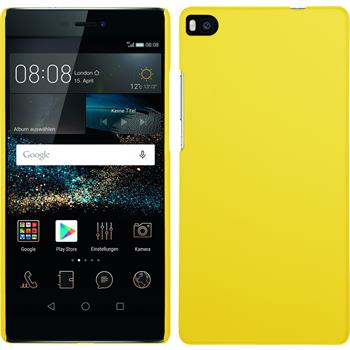 Hardcase for Huawei P8 rubberized yellow