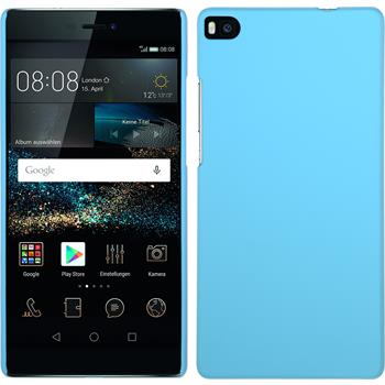 Hardcase for Huawei P8 rubberized light blue