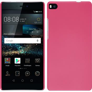Hardcase for Huawei P8 rubberized hot pink