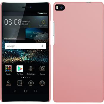 Hardcase for Huawei P8 rubberized pink