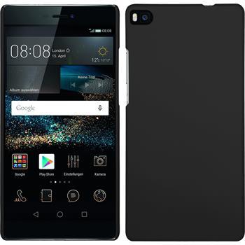 Hardcase für Huawei P8 gummiert schwarz