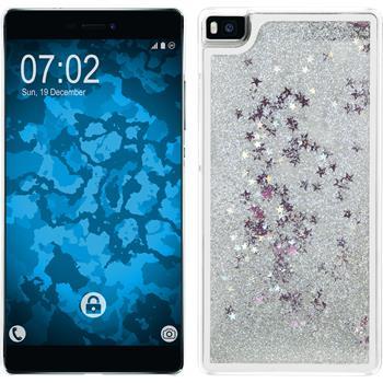 Hardcase für Huawei P8 Stardust silber