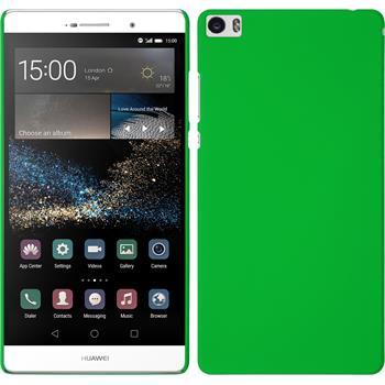 Hardcase für Huawei P8max gummiert grün