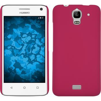 Hardcase für Huawei Y360 gummiert pink
